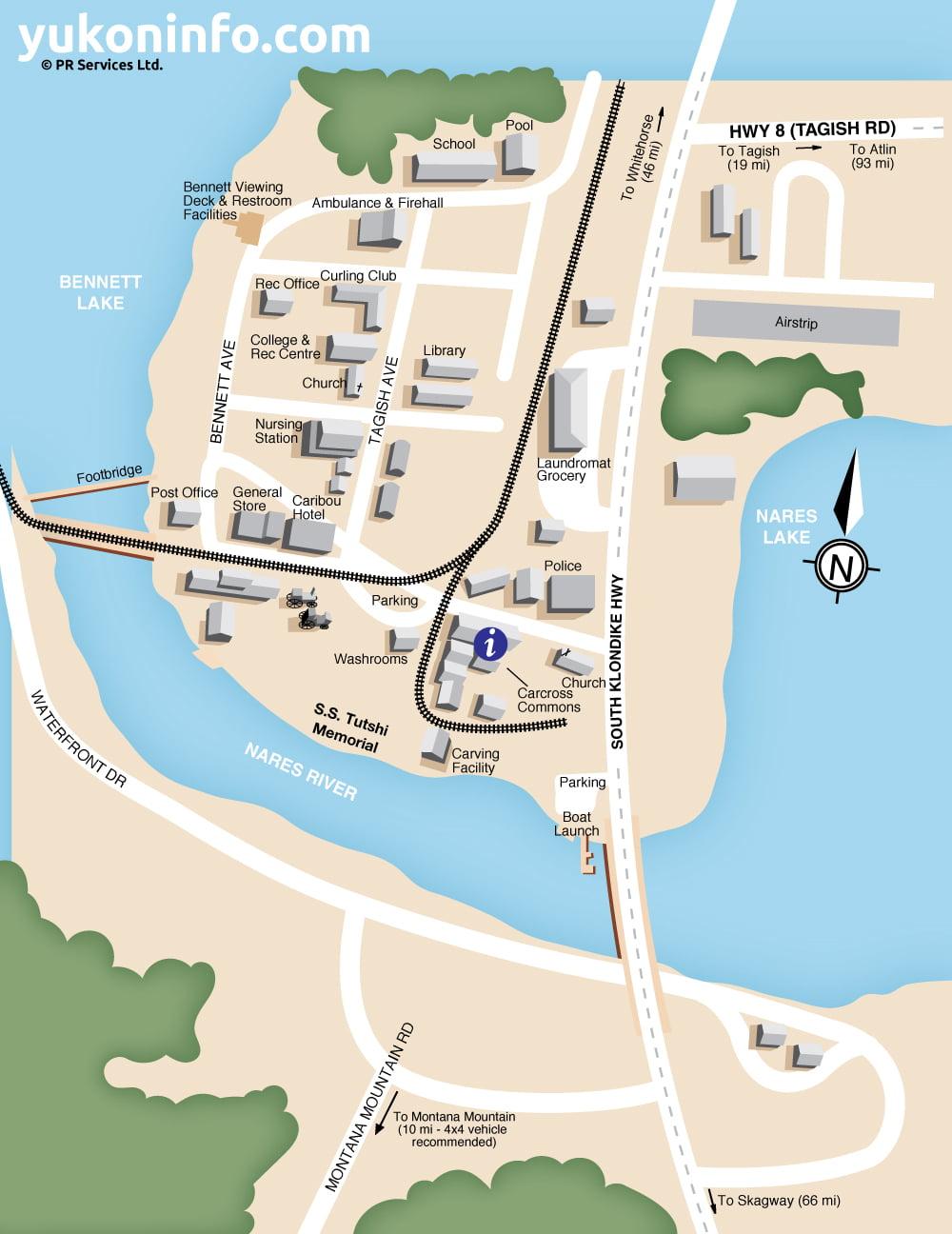 Carcross-Map