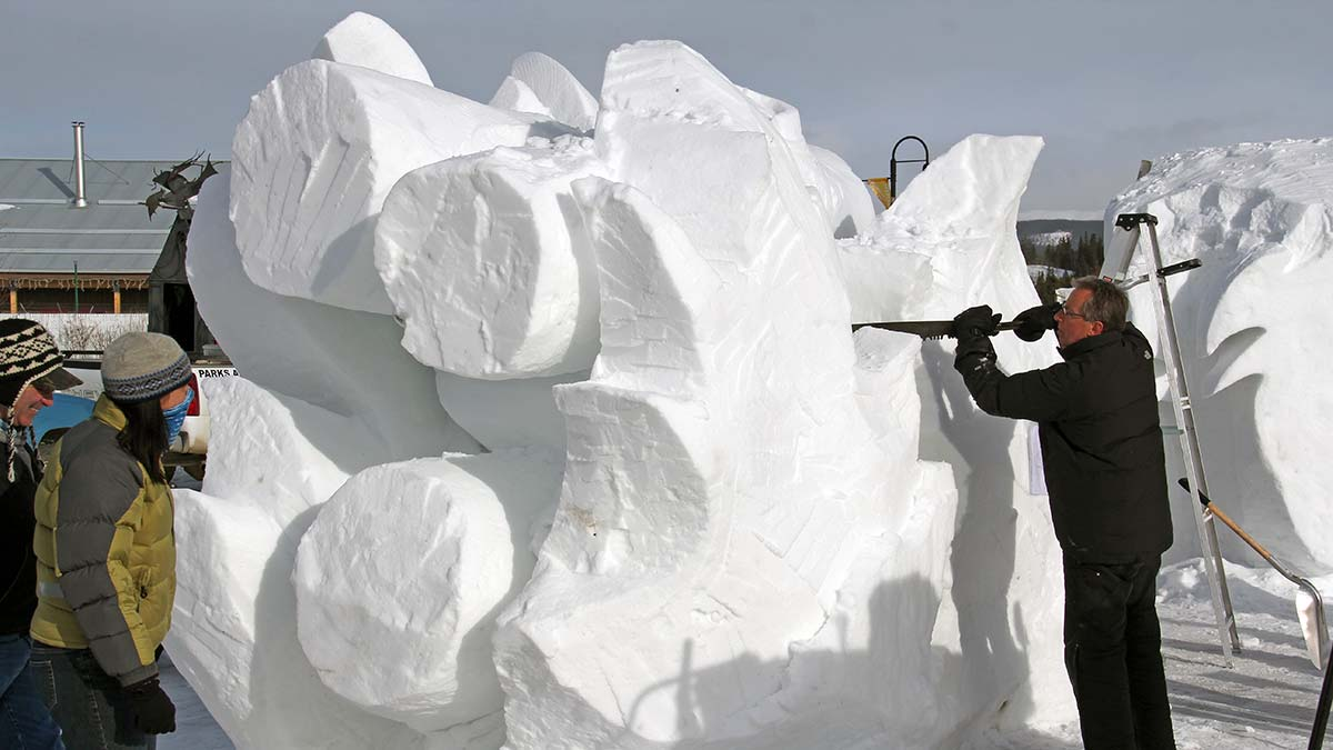 International Snow Sculpting ChallengeYukon Territory Alaska ...