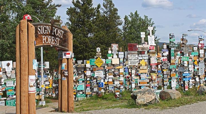 Watson Lake Signpost Forest, Yukon