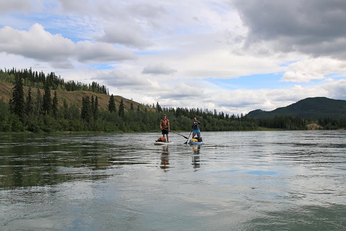 stand up paddleboarding yukon yukon territory alaska